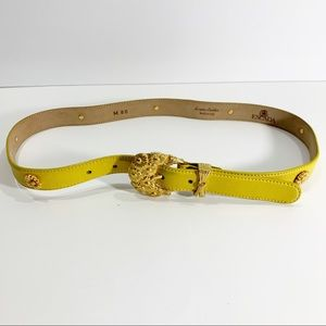 Escada Yellow Belt with Designs